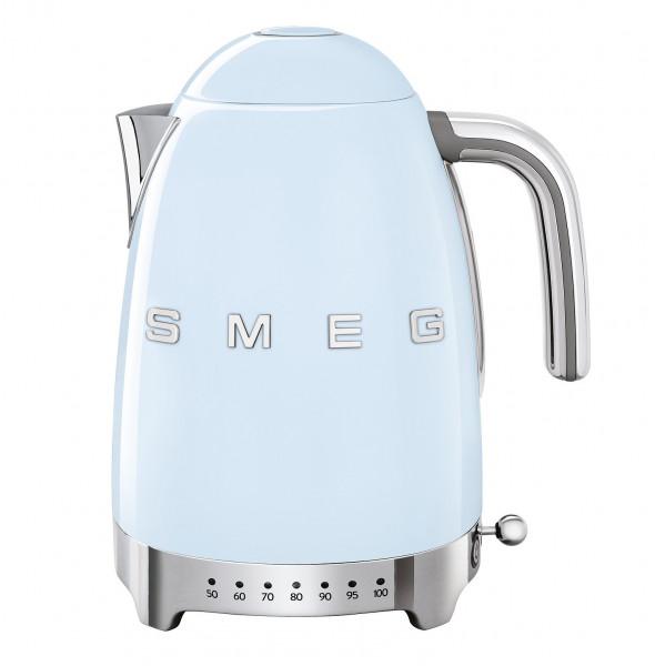 Smeg Retro Wasserkocher mit Temperatursteuerung pastellblau