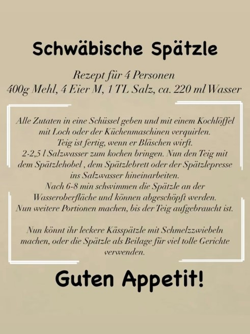 Sp-tzle-Rezept