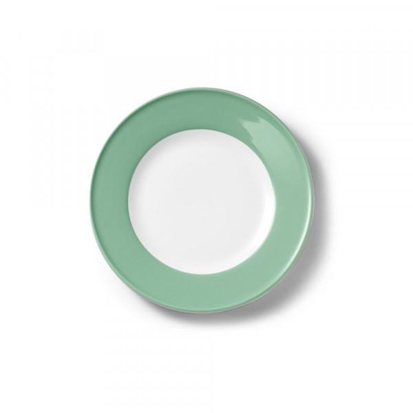 Dibbern Solid Color smaragd Teller flach 19 cm Fahne