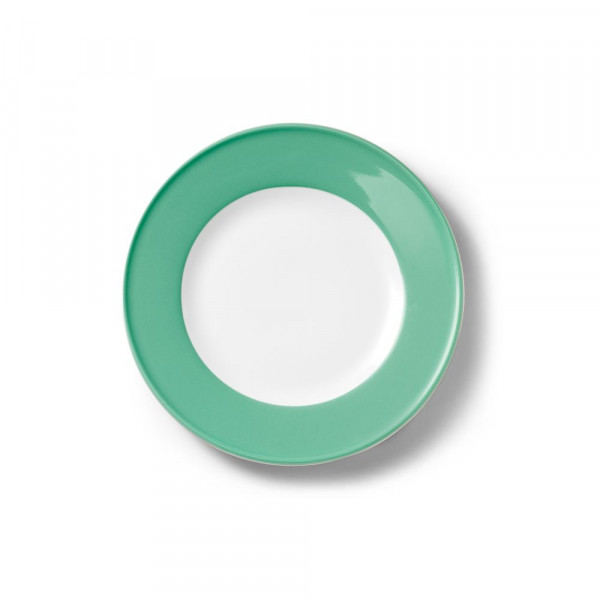 Dibbern Solid Color smaragd Teller flach 21 cm Fahne