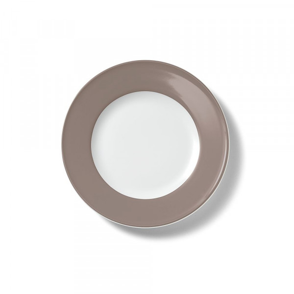Dibbern Solid Color kiesel Teller flach 21 cm Fahne