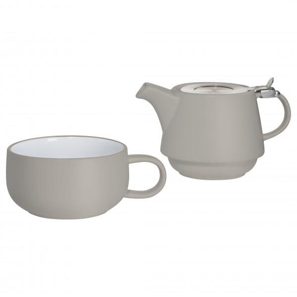 Maxwell & Williams Tint Teeservice für 1 Person hellgrau
