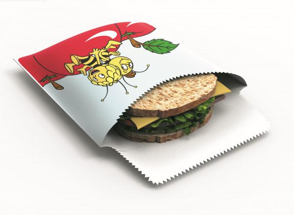 Nuts Bienenwachs Snack & Sandwichbeutel Biene Maja 1er - Maja und Willi