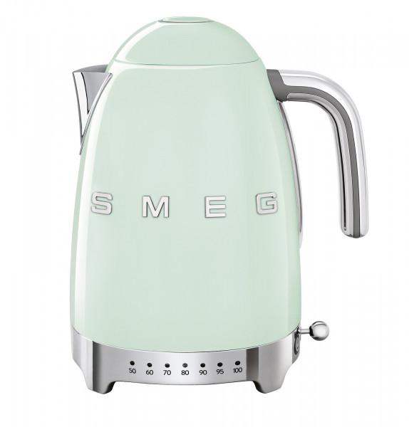 Smeg Retro Wasserkocher mit Temperatursteuerung pastellgrün