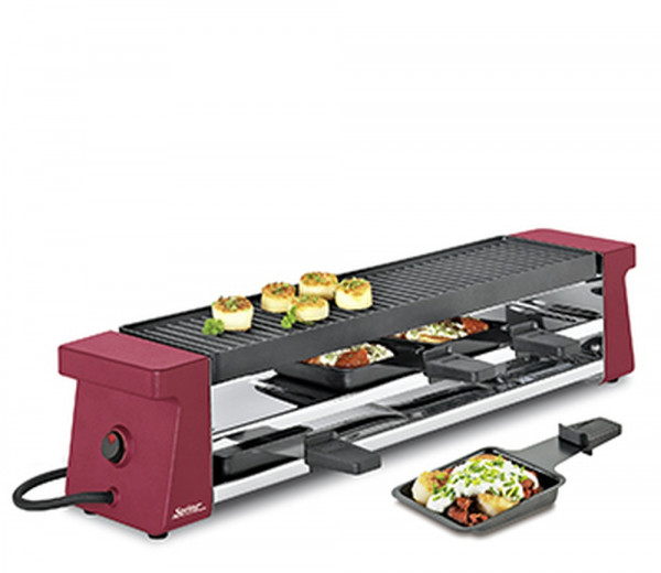 Spring Raclette Compact 4 Pfännchen rot