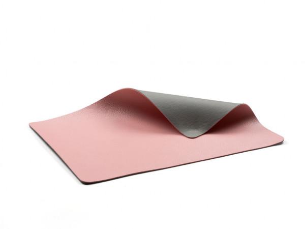 Bitz Tisch-Set 4er-Set grau / pink 46x33 cm