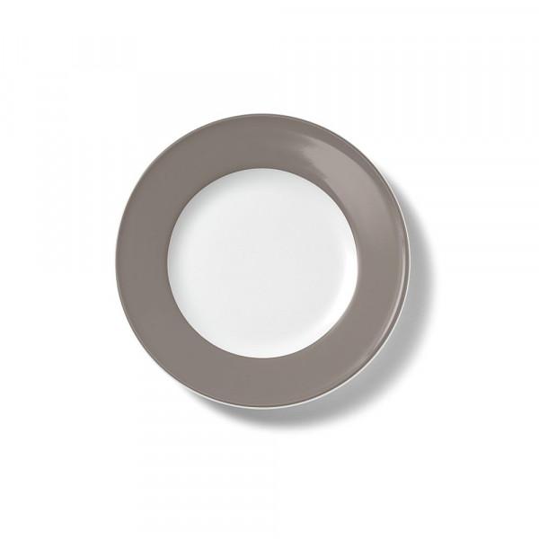 Dibbern Solid Color kiesel Teller flach 19 cm Fahne