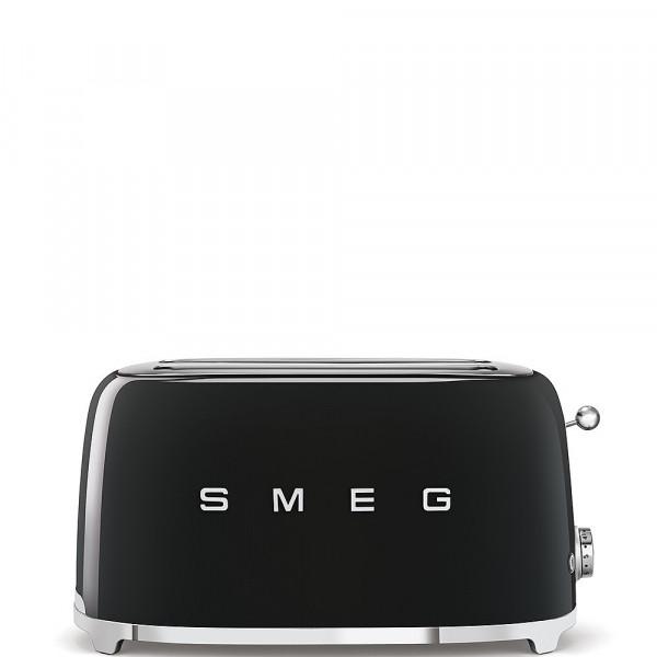 Smeg Retro Toaster 2-Schlitz lang schwarz