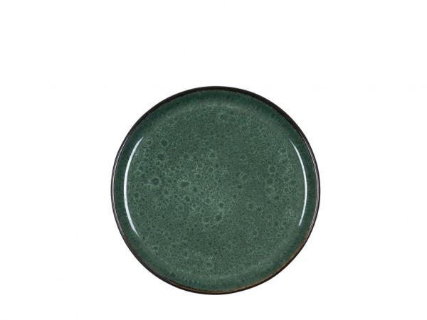 Bitz Frühstücksteller schwarz / grün 21 cm