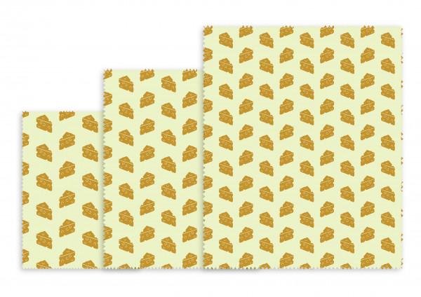 Nuts Innovations Bienenwachs Wrap Käse 3er-Set