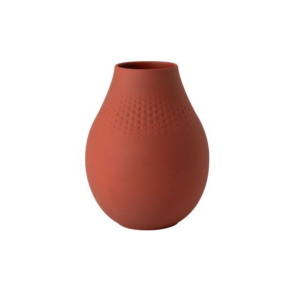 Villeroy & Boch Manufacture Collier Terre Vase Perle hoch 20 cm