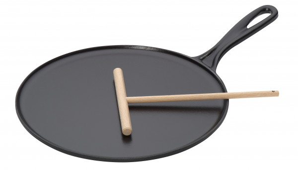 Le Creuset Gusseisen Crepespfanne 27 cm schwarz