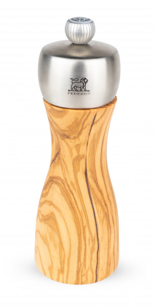 Peugeot Fidji Salzmühle Olivenholz / Edelstahl 15 cm
