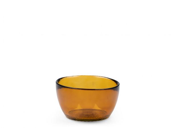 Bitz Kusintha Glas-Schälchen bernstein 12 cm