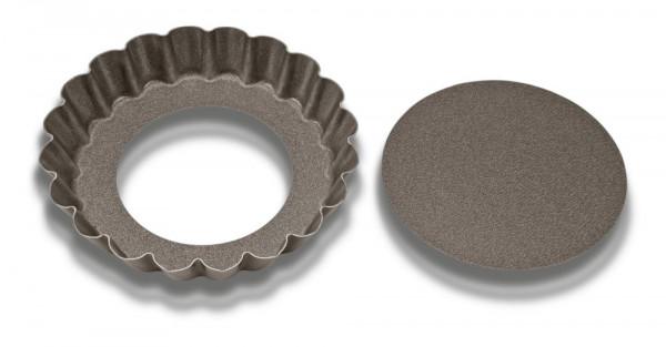 Städter Tarteform mit Hebeboden 10 cm Antihaft gewellter Rand 2er-Set rund