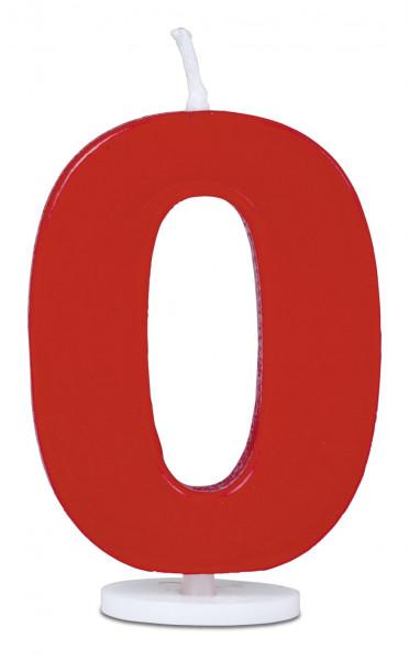 Städter Minikerze Zahl 0 rot