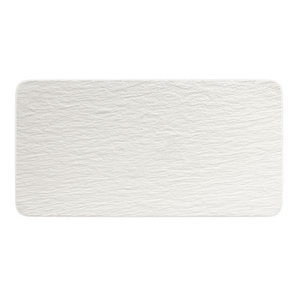 Villeroy & Boch Manufacture Rock Blanc Servierplatte rechteckig 35 x 18 cm