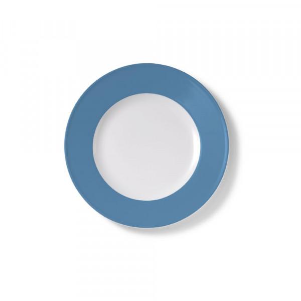 Dibbern Solid Color vintage blue Teller flach 19 cm Fahne