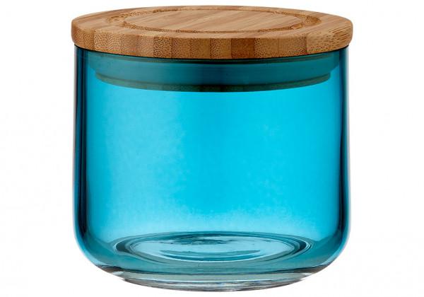 Ladelle Stak Glas Vorratsdose 9 cm blaugrün