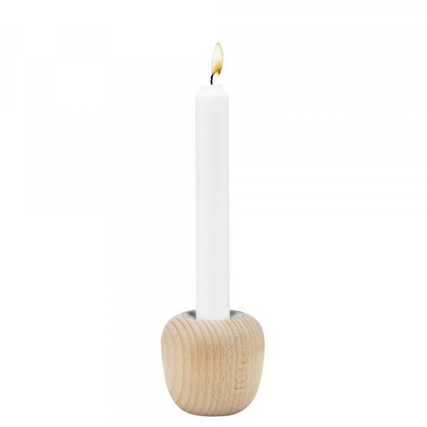 Stelton Ora Kerzen-Leuchter 7 cm Buche klein