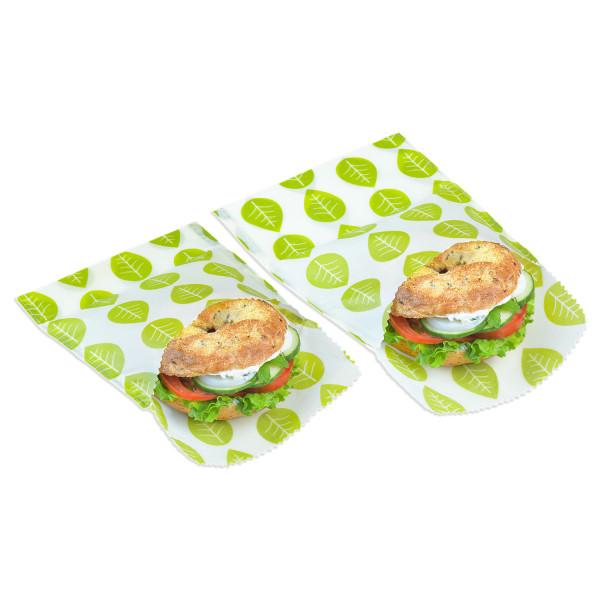 Nuts Innovations Veggie Wachstücher Sandwich- & Snack-Beutel 2er-Set