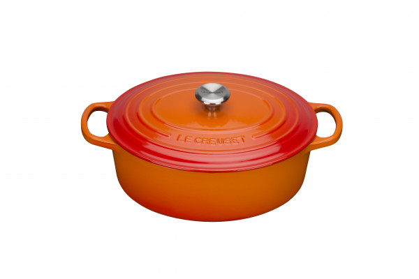 Le Creuset Signature Gusseisen Bräter oval 27 cm ofenrot