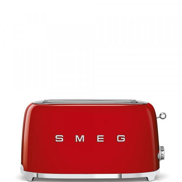 Smeg Retro Toaster 2-Schlitz lang rot