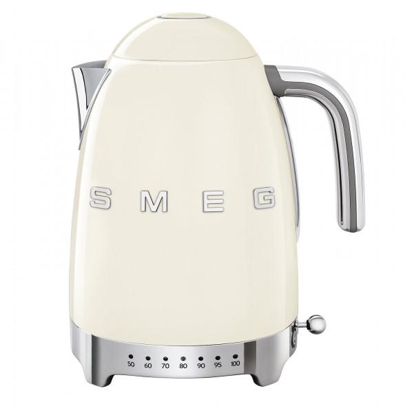 Smeg Retro Wasserkocher mit Temperatursteuerung creme