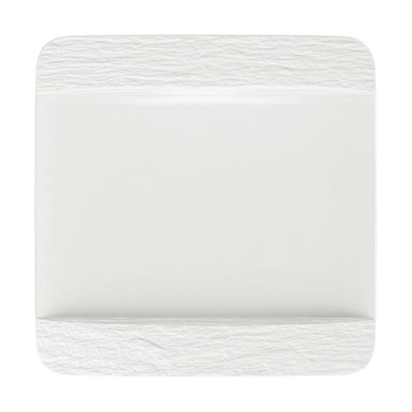 Villeroy & Boch Manufacture Rock Blanc Speiseteller quadratisch 28 x 28 cm