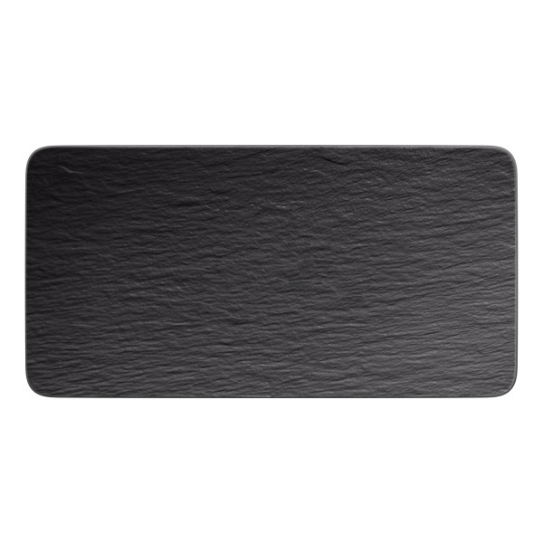 Villeroy & Boch Manufacture Rock Servierplatte rechteckig 35 x 18 cm