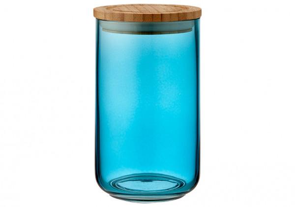 Ladelle Stak Glas Vorratsdose 17 cm blaugrün