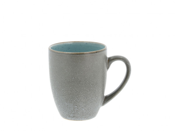 Bitz Henkelbecher grau / hellblau 300 ml