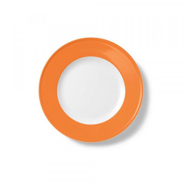 Dibbern Solid Color orange Teller flach 21 cm Fahne