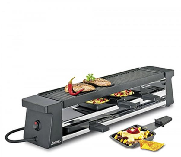 Spring Raclette Compact 4 Pfännchen schwarz