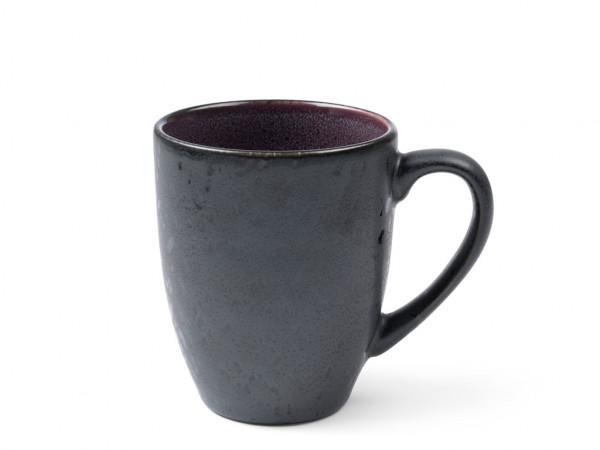 Bitz Henkelbecher schwarz / lila 300 ml