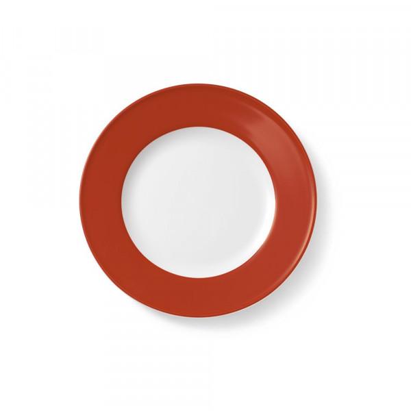 Dibbern Solid Color Paprika Teller flach 21 cm Fahne