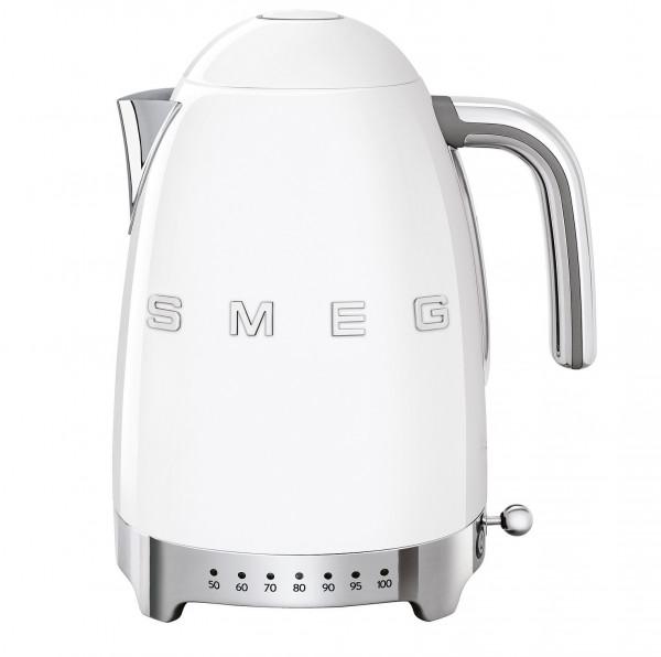 Smeg Retro Wasserkocher mit Temperatursteuerung weiß