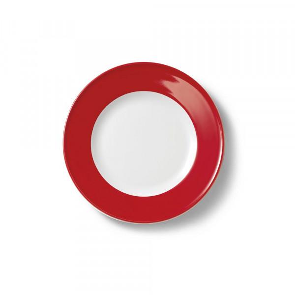 Dibbern Solid Color signalrot Teller flach 19 cm Fahne