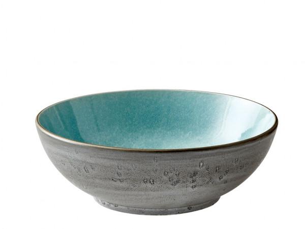 Bitz Salatschüssel grau / hellblau 30 cm