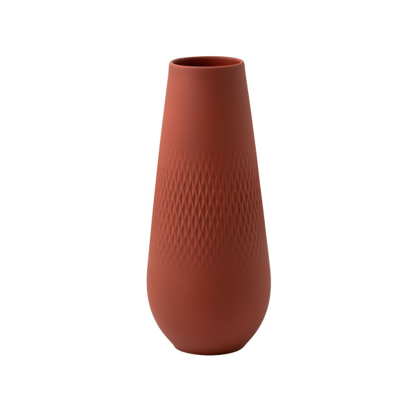 Villeroy & Boch Manufacture Collier Terre Vase Carre hoch 26 cm