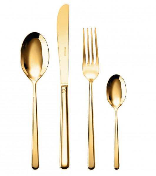 Sambonet Taste Edelstahl PVD Gold Besteck-Set 24-tlg.