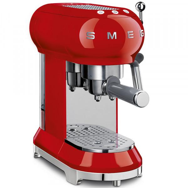 Smeg Retro Espresso-Maschine rot