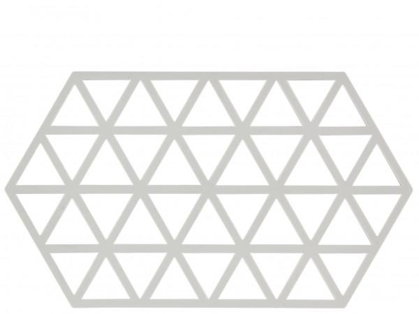 Zone Denmark Triangles Topf-Untersetzer Silikon warm grey