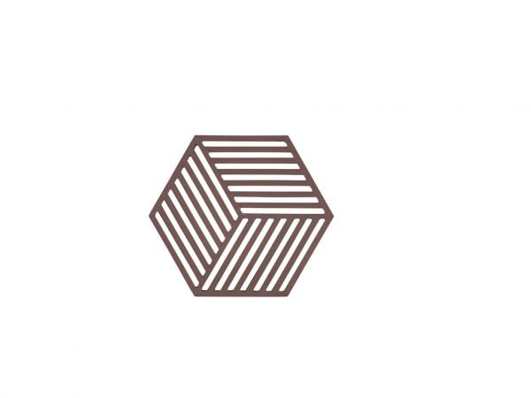 Zone Denmark Topf-Untersetzer Silikon Hexagon Chocolate