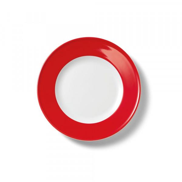 Dibbern Solid Color Signalrot Teller flach 21 cm Fahne