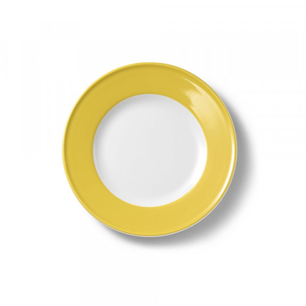 Dibbern Solid Color Sonnengelb Teller flach 21 cm Fahne
