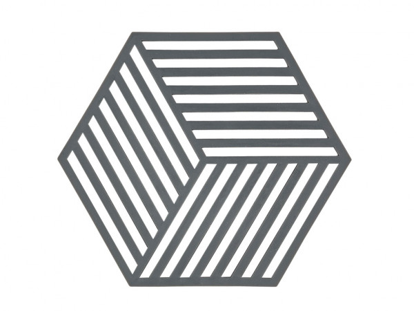Zone Denmark Topf-Untersetzer Silikon Hexagon Grey