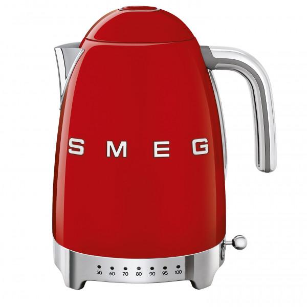 Smeg Retro Wasserkocher mit Temperatursteuerung rot