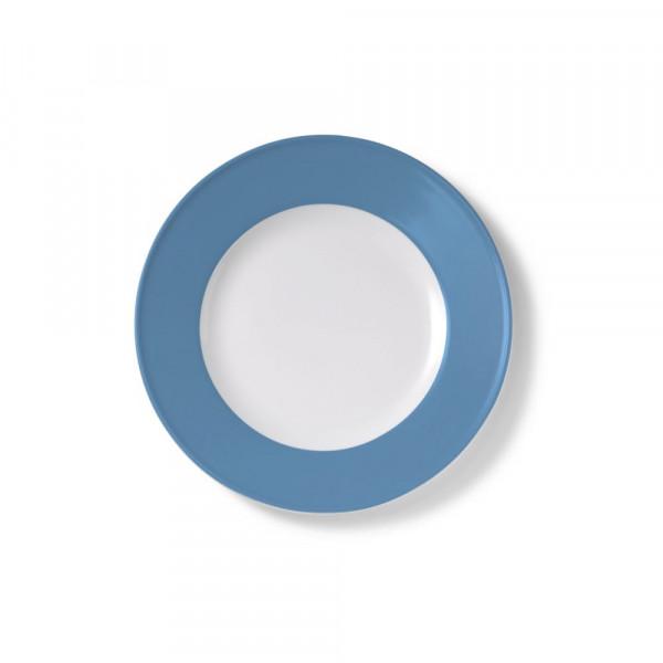 Dibbern Solid Color vintage blue Teller flach 21 cm Fahne